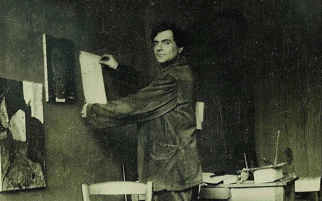 Amadeo Modigliani dans atelier  (Crédit : ©RMN-Grand Palais musée de l'Orangerie/Archives Alain Bouret, image Dominique Couto)