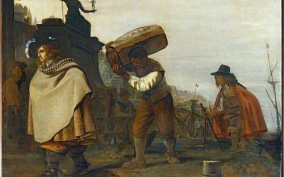 Michael Sweerts, Gentilhomme arrivant dans un port méridional. MNR 478. Musée du Louvre, département des Peintures (Crédit: 2009 Musée du Louvre / Erich Lessing)