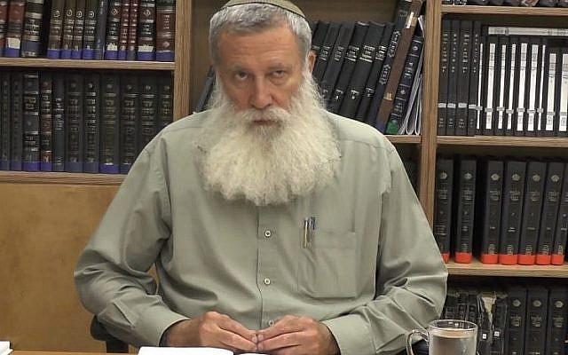 Le rabbin Yosef Kelner (Capture d'écran : YouTube)