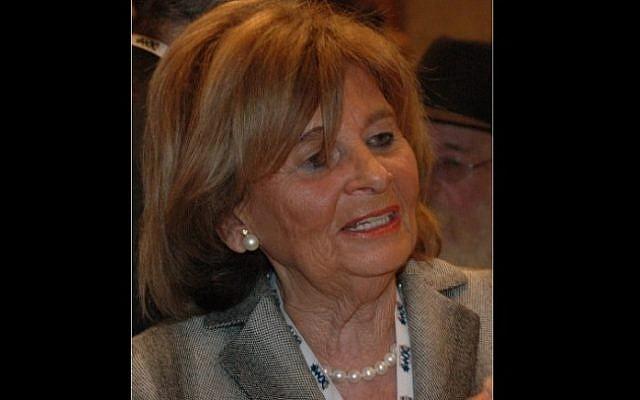 La cheffe de la communauté juive d'Allemagne Charlotte Knobloch, vue à Jérusalem en 2009. (Crédit : Wikimedia Commons)