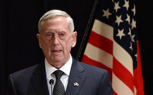 Le secrétaire américain à la Défense, Jim Mattis (Crédit : AFP/Toru YAMANAKA)