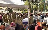 Les funérailles du sergent Shiloh Siman-Tov, le 20 février 2018 (Capture d'écran :  Walla)
