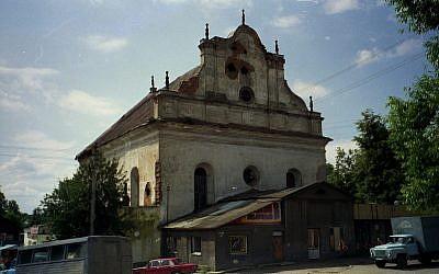 La Grande synagogue de Slonim, qui a été sélectionnée pour une préservation dans le cadre du projet des synagogues historiques européennes (Fondation du patrimoine juif)