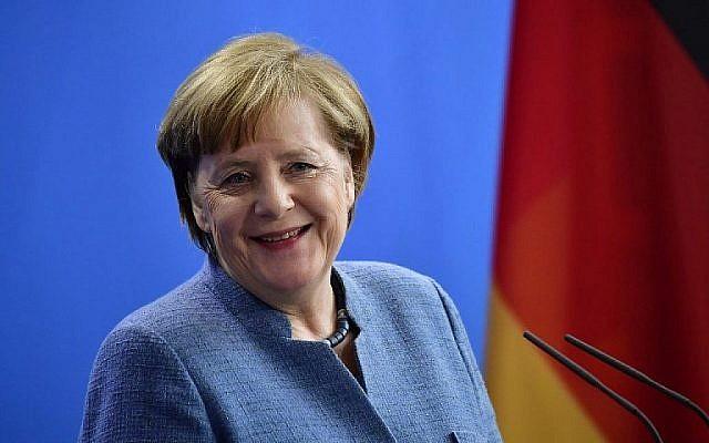 La chancelière allemande Angela Merkel lors d'une conférence de presse à la Chancellerie de Berlin, le 27 février 2018. (AFP/Tobias Schwarz)