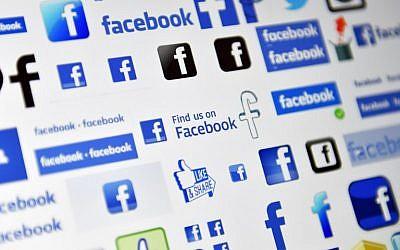 Logos du réseau social en ligne et du service de réseautage social américain Facebook. (AFP PHOTO / LOIC VENANCE)