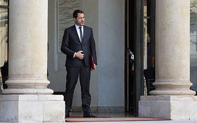 Christophe Castaner, à l'Elysée le 21 mars 2018. (Crédit : AFP / LUDOVIC MARIN)