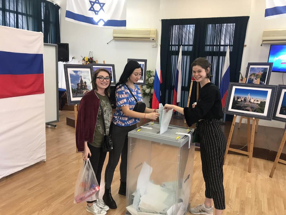 Le peu de russes qui ont voté en israël ont majoritairement