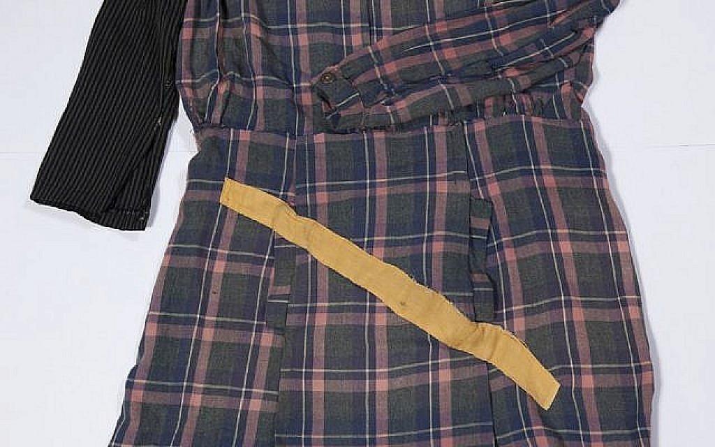 Robe portée par Genia Dvorkin dans les camps de travail en Estonie et en Allemagne. (Yad Vashem Artifacts Collection)