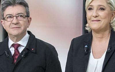 Marine Le Pen et Jean-Luc Mélenchon (Capture d'écran)