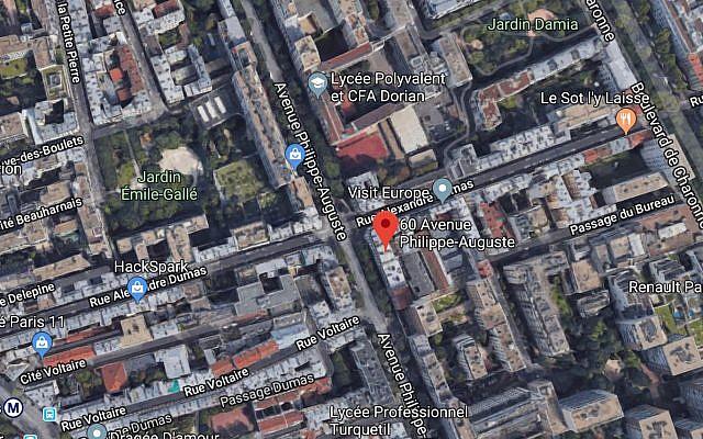 Mireille Knoll est décédée à son domicile 60, avenue Philippe Auguste à Paris (Crédit: capture d'écran Google Map)
