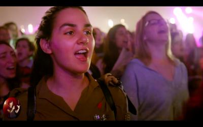Capture d'écran du clip réalisé par Na'amat et Koolulam
