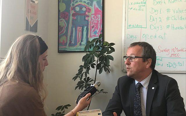 Geert Cappelaere, directeur régional du Fonds des Nations unies pour l'enfance pour le Moyen-Orient et l'Afrique du Nord. (Capture d'écran Twitter)