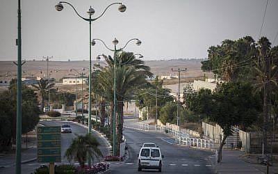 La ville bédouine de Rahat dans le sud d'Israël, le 18 août 2015. (Hadas Parush / Flash90)