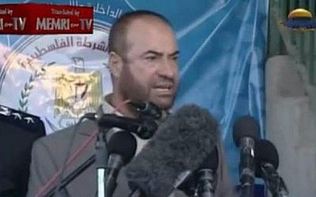 Fathi Hamad, ancien ministre de l'Intérieur du Hamas (Crédit : Capture d'écran YouTube)