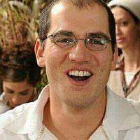 Adiel Kolman, qui a été tué lors d'une attaque au couteau dans la Vieille Ville de Jérusalem le 19 mars 2018 (Autorisation).