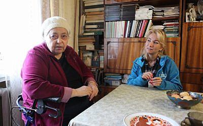 Photo d'illustration d'une femme âgée assistée par JDC à Kharkov, en Ukraine (JDC)