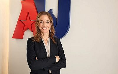 Rachel Laser est la nouvelle directrice de l'organisation 'Americans United for Separation of Church and State' (Crédit : Rick Reinhard/via JTA)