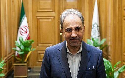 Mohammad Ali Najafi, l'ancien maire de Téhéran, Iran, qui a démissionné au milieu d'un scandale suscité par sa participation à un récital de danse en mars 2018 (Crédit : Agence de presse Tasnim)