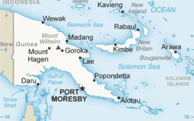 Carte de la Papouasie-Nouvelle-Guinée (Domaine public)