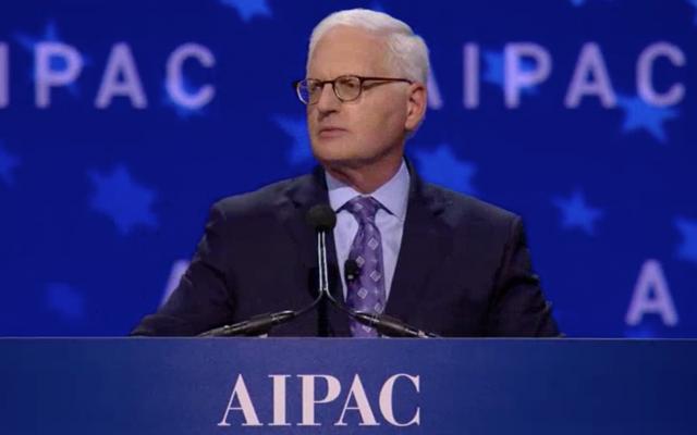 Howard Kohr, directeur exécutif de l'AIPAC, s'adresse à la conférence politique du lobby pro-israélien, le 4 mars 2018 (Capture d'écran de l'AIPAC)