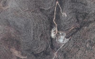 Un site dans l'ouest de la Syrie soupçonné d'abriter une installation nucléaire potentielle, capturé le 19 juin 2014. (Google Earth)