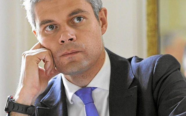 Laurent Wauquiez, président du parti Les Républicains. (Crédit : Wikipedia CC BY-SA 3.0)
