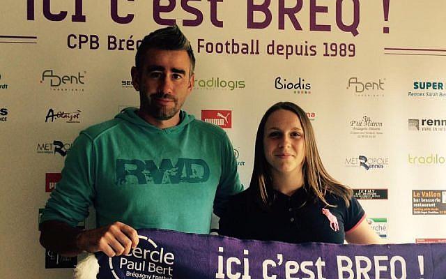 Elise Thomelier à son arrivée au club de football de Bréquigny en 2016 (Crédit: compte Facebook du club de Bréquigny)