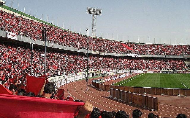 Stade Azadi de Téhéran (Crédit : Wikimedia commons)