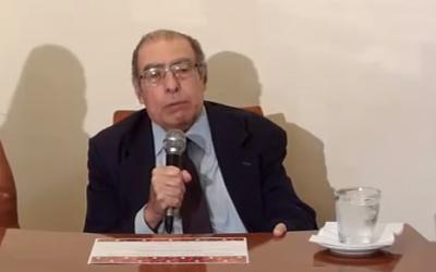 Le juge argentin Leopoldo Schiffrin, le 15 novembre 2016 (Crédit : Capture d'écran / YouTube)