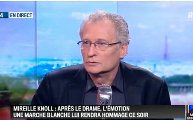 Daniel Knoll, reçu par Jean-Jacques Bourdin sur RMC le 28 mars 2018, jour de la marche blanche en hommage à sa mère assassinée (Crédit: capture d'écran RMC)