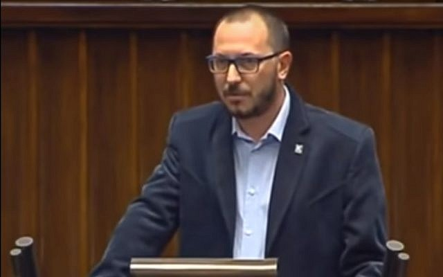 Le député polonais de droite, Paweł Skutecki. (Capture d'écran YouTube)