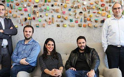 Les fondateurs de Aleinou, (de gauche à droite) : Yomtob Kalfon, Michael Wolf, Moria Hadad-Rodrig, Benjamin Fellous. (Crédit : Avishag Shear Yishuv)