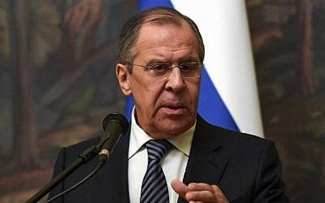 Le ministre russe des Affaires étrangères Sergei Lavrov assiste à une conférence de presse le 29 mars 2018. (AFP PHOTO / Yuri KADOBNOV)