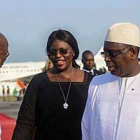 Macky Sall, président de la République du Sénégal, et son épouse Marieme Sall (Facebook)