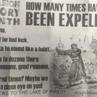Illustration : Courrier de haine antisémite reçu par le centre communautaire juif de Windsor, Ontario, Canada, le vendredi 16 février 2018 (Crédit : B'nai Brith Canada)