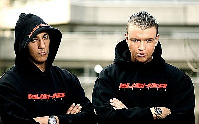 Farid Bang et Kollegah (Crédit : Selfmade Records/Wikimedia commons/CC BY 2.0)