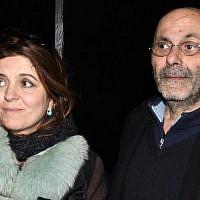 """Agnès Jaoui et Jean-Pierre Bacri à l'avant-première du film """"Au bout du conte"""" (Crédit : Georges Biard/Creative Commons Attribution-Share Alike 3.0)"""