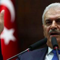 Binali Yildirim à Ankara le 31 octobre 2017. (Crédit : AFP/Adem Altan)