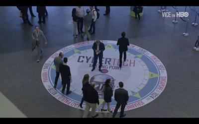 Capture d'écran d'un reportage sur le cyber futur de la guerre de l'émission «VICE News» diffusée sur HBO