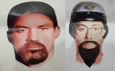 Les portraits-robots diffusés par la Royal Malaysia Police dans l'affaire de l'assassinat d'un membre du Hamas, à Kuala Lumpur, Malaysia, le 23 avril 2018. (Crédit : Royal Malaysia Police)