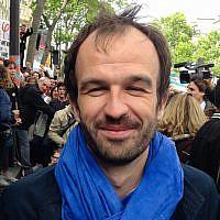 Manuel Bompard, coordinateur des campagnes de LFI, pendant la manifestation du 1er mai 2017 à Paris. (Thomas Linard / Wikimedia Commons CC BY-SA 4.0)