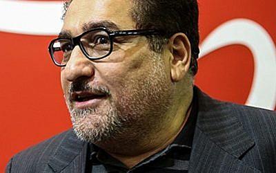 Photo non datée de Mohammad Reza Tabesh, directeur de la commission parlementaire de l'Environnement en Iran.(Crédit : Saeed Faramarzi/Tasnim News Agency /CC BY 4.0, via Wikimedia Commons)