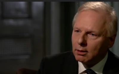 Le chef de l'opposition québécoise Jean-François Lisée du Parti-Québécois prend la parole dans une interview télévisée qui a été diffusée le 21 février 2018. (Capture d'écran: YouTube)