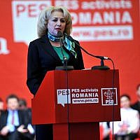 Viorica Dancila (Crédit : Partidul Social Democrat/Creative Commons Attribution 2.0 Generic)
