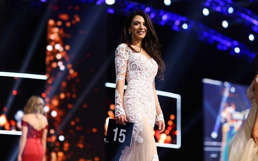 Tamar Morali à la compétition Miss Allemagne à Rust, Allemagne. 24 février 2018. (Jeremy Moller)