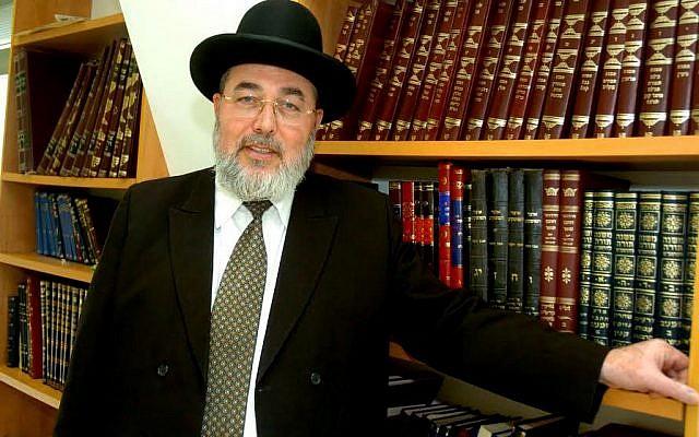 Le rabbin Eliyahu Abergel, chef de la cour rabbinique de Jérusalem (Crédit : Dudu Greenspan/FLASH90)