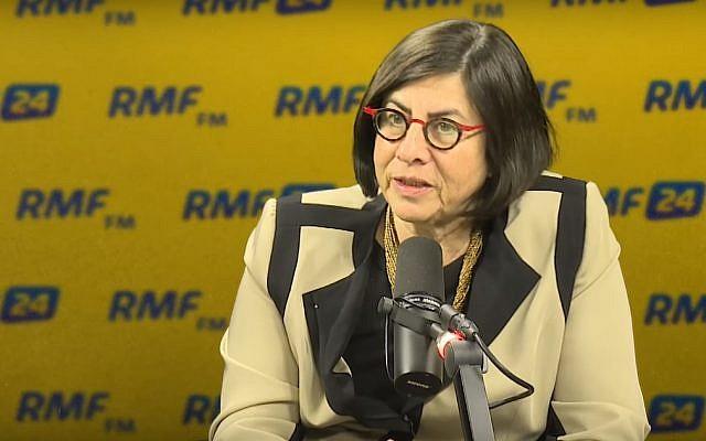 L'ambassadrice d'Israël en Pologne, S.E. Anna Azari. (Capture d'écran YouTube)