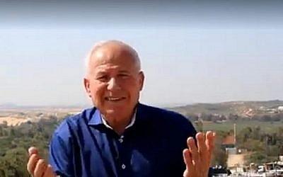 Avi Dichter, député du Likud et ancien chef des services de sécurité du Shin Bet, lance un appel en arabe aux habitants de Gaza pour qu'ils abandonnent le terrorisme. (Capture d'écran YouTube)