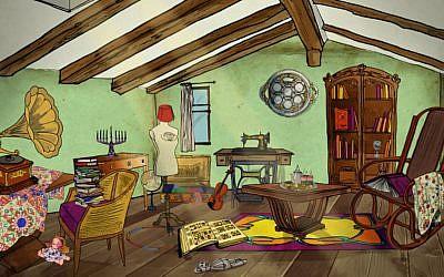 Le Grenier de Sarah permet d'entrer la mémoire juive, à destination des 8-12 ans (Crédit: capture d'écran)