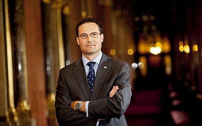 Márton Gyöngyösi, vice-président de la commission parlementaire hongroise des Affaires étrangères et chef des Affaires internationales du parti Jobbik. (Autorisation)
